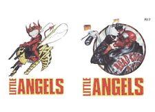 2 tatouages temporaires motifs diable sur abeille et diable sur moto hallowen