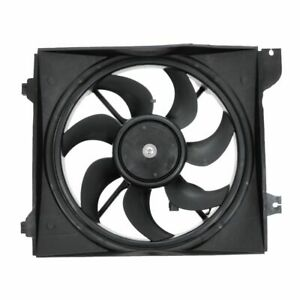 Radiator Cooling Fan Assembly Driver Side Left LH For 06-10 Rio Rio5 w/ AC A/C