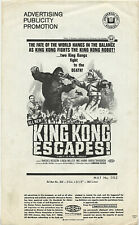 Original PB • KING KONG ESCAPES • 1968 • Universal / Toho • Uncut • Complete