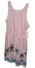 NWT Old Navy Girls Sundress Sz L 10-12 Pink Island Print