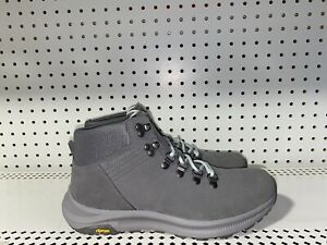 Merrell Ontario Suede Mid Womens Athletic Hiking Trail Boots Size 9 Gray Vibram