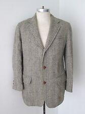 VGC Harris Tweed Gray Cream Ice Blue Stripe 3-Button Blazer Jacket Sportscoat 38