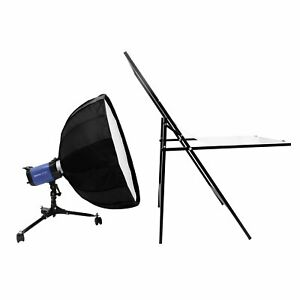 Low-profile Lamp Softbox Light Flash Stand Support Bracket With Rolling Wheel
