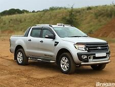 To Fit 2016+ Ford Ranger T6 Stainless Steel Front Bumper Spoiler Nudge Chin Bar
