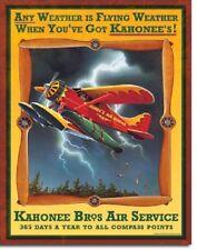 Kahonee Air Airplane Aviation Flying Flight Vintage Wall Art Metal Tin Sign New