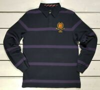 New Conte of Florence Men's T-shirt Size XL Long Sleeve Striped Blue Purple