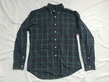 Polo Ralph Lauren Large Blue/Green Long-Sleeved Plaid Shirt Slim Fit