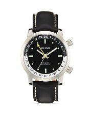 Jack Spade Stanton Dual Time Black Men's Leather Watch, 43mm GIFT NIB $528