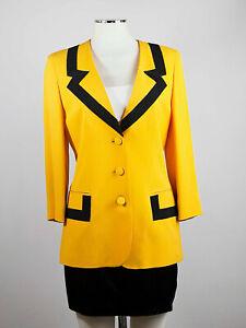 Vintage MOSCHINO CHEAP&CHIC Yellow Jacket Blazer Giacca Gros Grain  IT46 42DE