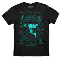 Flat Earth Map t-shirt, Earth is flat, Firmament, NASA lies, New World Order