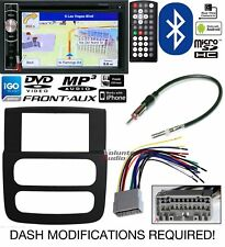 Power Acoustik Double Din DVD Navigation Bluetooth with Infinity Bypass Harness