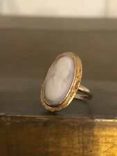 Antique 10K Yellow Gold Cameo Ring Size 6