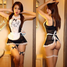 Hot Women's Sexy French Maid Uniform Fancy Dress Costume Hen Party Ladies Outfit