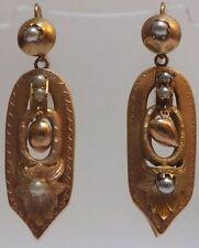 Vittoriano 15 KT Oro Antico Orecchini di Perle