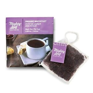 Mighty Leaf Tea, Organic Breakfast Black Tea -100 Count Foil Wrapped Pouches