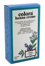 Colora Henna Creme Hair Color Black, 2 oz (Pack of 4)