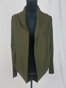 Wilfred women S Diderot sweatshirt open front cocoon cardigan brown