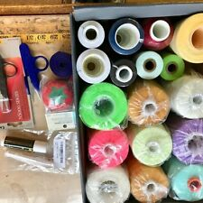 ZIPPERSTOP MOVING SALE Over 6 Pounds of Assorted Sewing Thread & Sewing Supplies