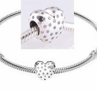 Genuine Pandora Sterling Silver ALE 925 Love Heart Clear 791241CZ