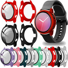 2Pcs Case For Samsung Galaxy Watch Active 2 40/44mm Screen Protector Accessories