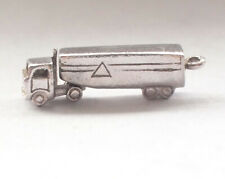 Stunning 925 Sterling Silver Vintage Moving Truck Lorry Antique Pendant 4g