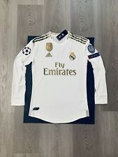 Eden Hazard Soccer Jersey Long Sleeve Real Madrid Home Small