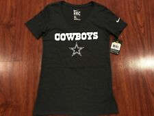 Nike Women €™s Dallas Cowboys NFL Tri Blend V Neck Wordmark Jersey Shirt 402274ebe