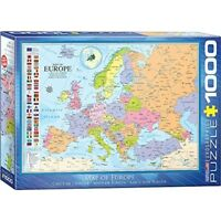 Eurographics Puzzle 1000pc -map Of Europe - Map 60000789 1000piece