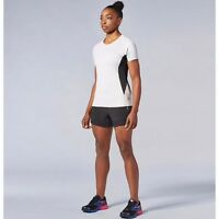 Second Skin Womens Lunar Rock Black Stripe Short Sleeve Training Top