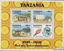 tanzanie Bloc 22 (complète edition) neuf avec gomme originale 1980 rotary Confér