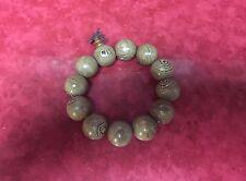 Huge Tibetan 12 20mm  Rosewood Yoga Meditation Prayer Beads Wrist Mala Bracelet