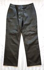 Ladies size 12 Black Pleather Pants - Rockmans