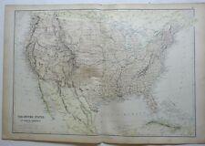United States New England Midwest Texas California Florida 1882 Blackie map