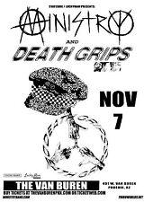 Ministry / Death Grips 2017 Phoenix Concert Tour Poster- Industrial/Thrash Metal
