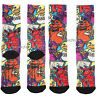 Five Nights At Freddy's Sublimation Pizza Graffiti PREMIUM Crew Socks 1 Pair NWT