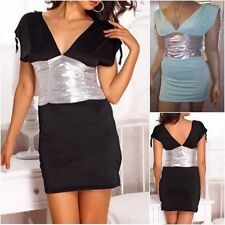 Unbranded V Neck Stretch, Bodycon Short/Mini Dresses