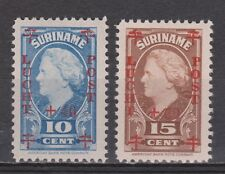 Luchtpost LP 27 - LP 28 MLH ong Suriname 1946 Rode Kruis airmail