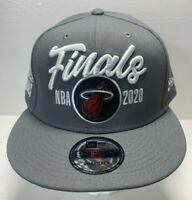 NEW ERA 9FIFTY SNAPBACK HAT/CAP Miami Heat 2020 NBA FINALS. GREY ADULT RARE
