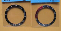 = 2pcs BLACK & Red/Blue BEZEL made for SEIKO DIVER 7S26-0040 Automatic New