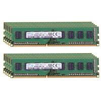 10x For Samsung 4GB 1Rx8 PC3-12800U Desktop Memory DDR3 1600Mhz 240Pin RAM Intel