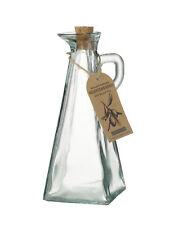 Recycled Glass Prism Oil Vinegar Dressing Bottle Cork Drizzler 350ml Kitchenware