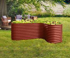 Vitavia Erweiterung CURVE ziegel-rot 80x80x86 cm, für Hochbeet BASIC Kräuterbeet