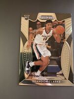 Brandon Clarke 2019-20 Panini Prizm Rc Rookie Memphis Grizzlies Rare!