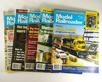 Model Railroader Magazine 1995 Lot of 5 Issues Kalmbach Publishing Model Trains
