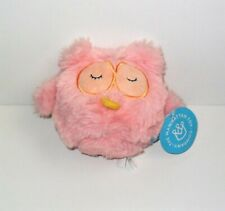"""THE MANHATTAN TOY COMPANY SQUEEZMEEZ PINK OWL 5"""" INCH PLUSH NEW WITH TAG"""