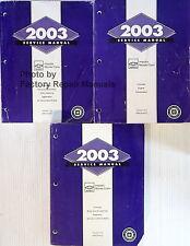 2003 Chevy Impala, Monte Carlo Factory Service Manual Set - Original Shop Repair
