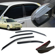 Side Mirror Guard + Smoke Window Vent Visor For HYUNDAI 1999 - 2005 Verna Accent
