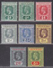 British Virgin Islands 1913 King George V Part Set to 5sh Mint
