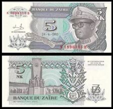 Zaire 5 Nouveaux Makuta, 1993, P-48, Africa, Unc World Currency - Paper Money