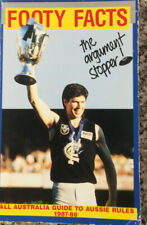 FOOTY FACTS . . . The Argument Stopper. All Australia Guide to Aussie Rules 1987